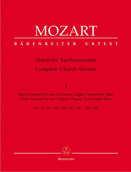 Samtliche Kirchensonaten, Heft 1