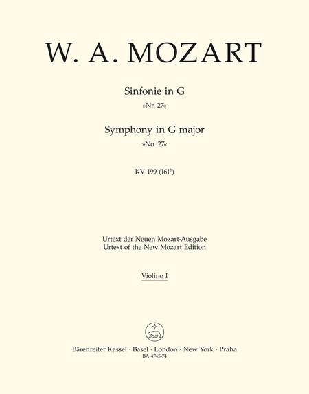 Symphony, No. 27 G major, KV 199 (161b)