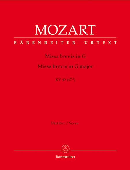 Missa brevis G major, KV 49 (47d)