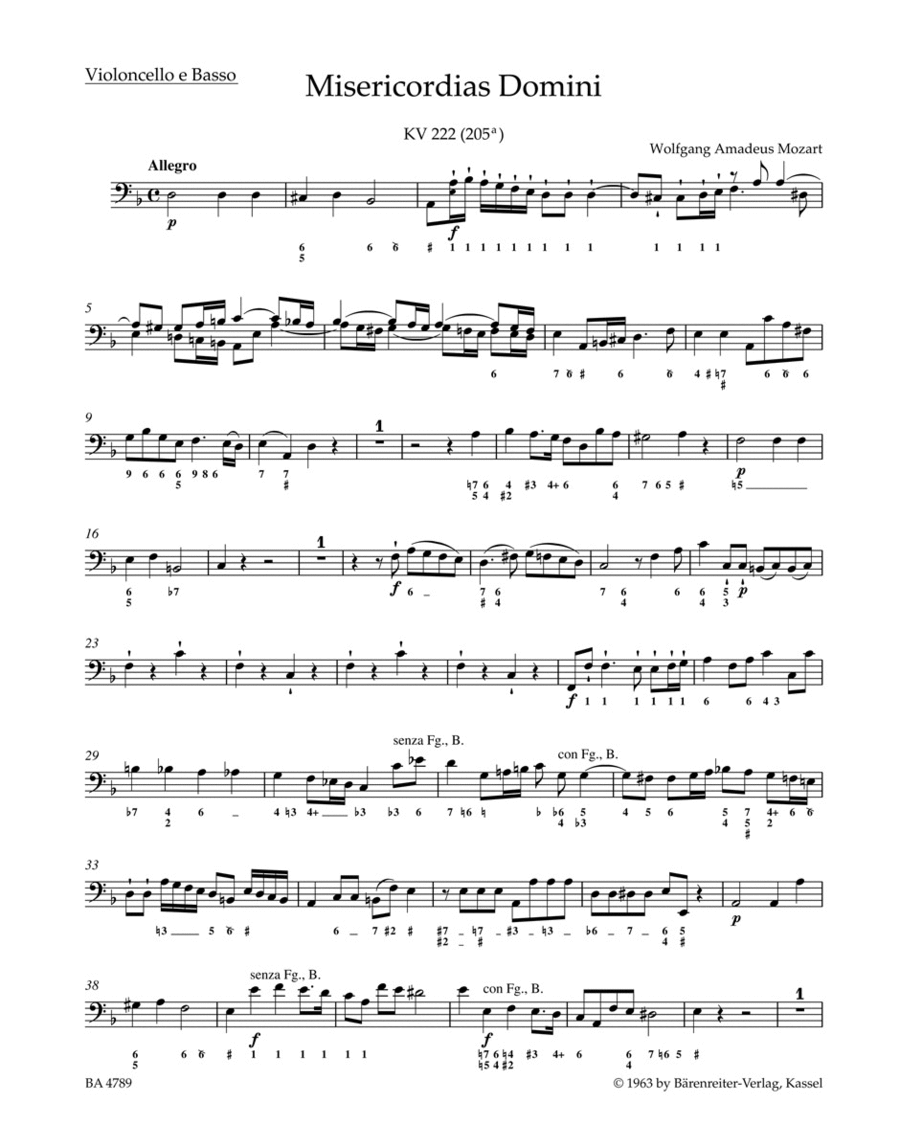 Misericordias Domini KV 222 (205a)