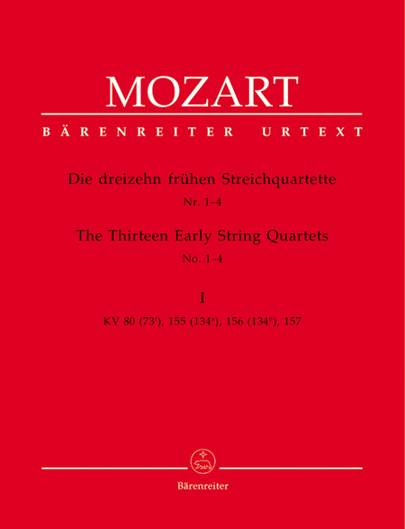 13 Early String Quartets, Volume 1 - Nos. 1-4