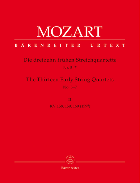 13 Early String Quartets, Volume 2 - Nos. 5-7