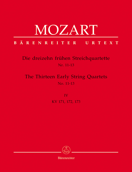 13 Early String Quartets, Volume 4 - Nos. 11-13