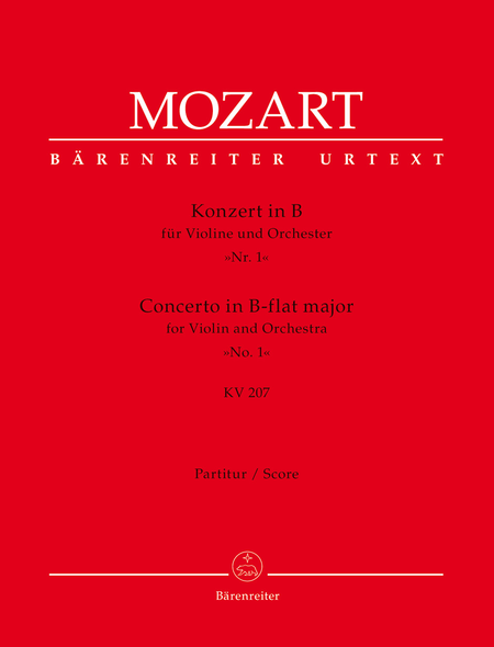Concerto for Violin and Orchestra, No. 1 B flat major, KV 207