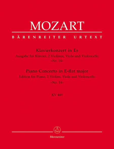 Concerto, No. 14 E flat major, KV 449