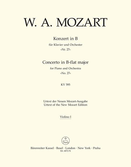 Concerto for Piano and Orchestra, No. 27 B flat major, KV 595
