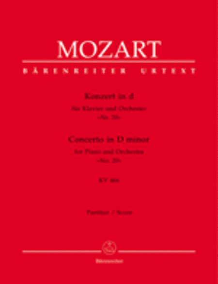 Concerto for Piano and Orchestra, No. 20 d minor, KV 466