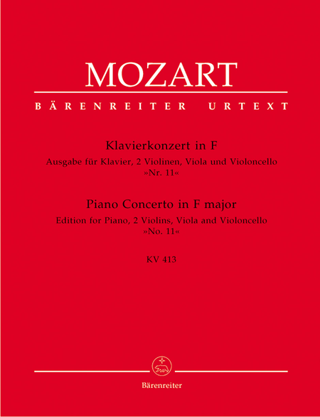 Concerto for Piano and Orchestra, No. 11 F major, KV 413