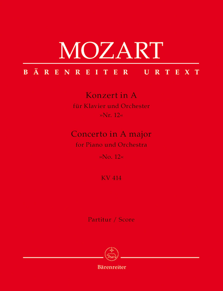 Concerto for Piano and Orchestra, No. 12 A major, KV 414