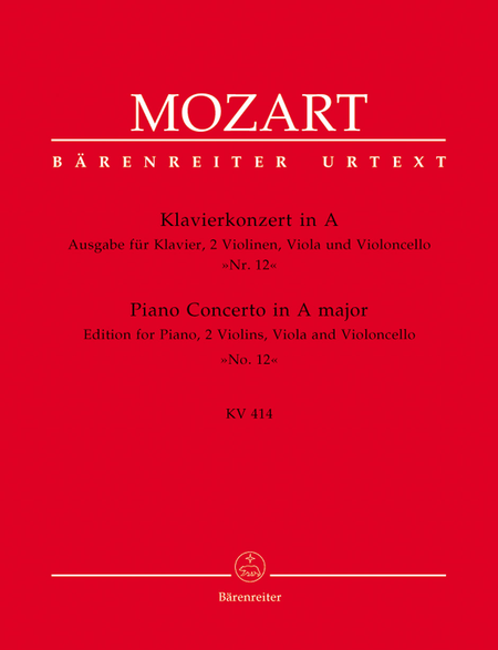 Piano Concerto, No. 12 A major, KV 414