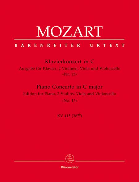 Concerto, No. 13 C major, KV 415