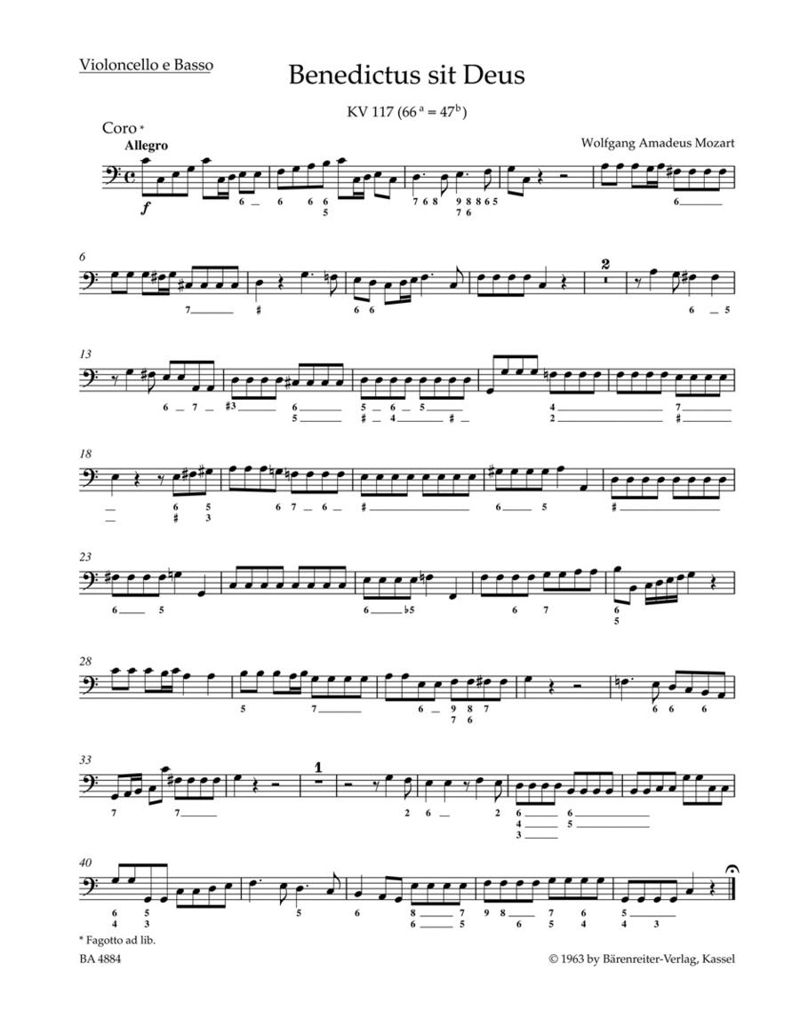 Benedictus sit Deus KV 117 (66a=47b)