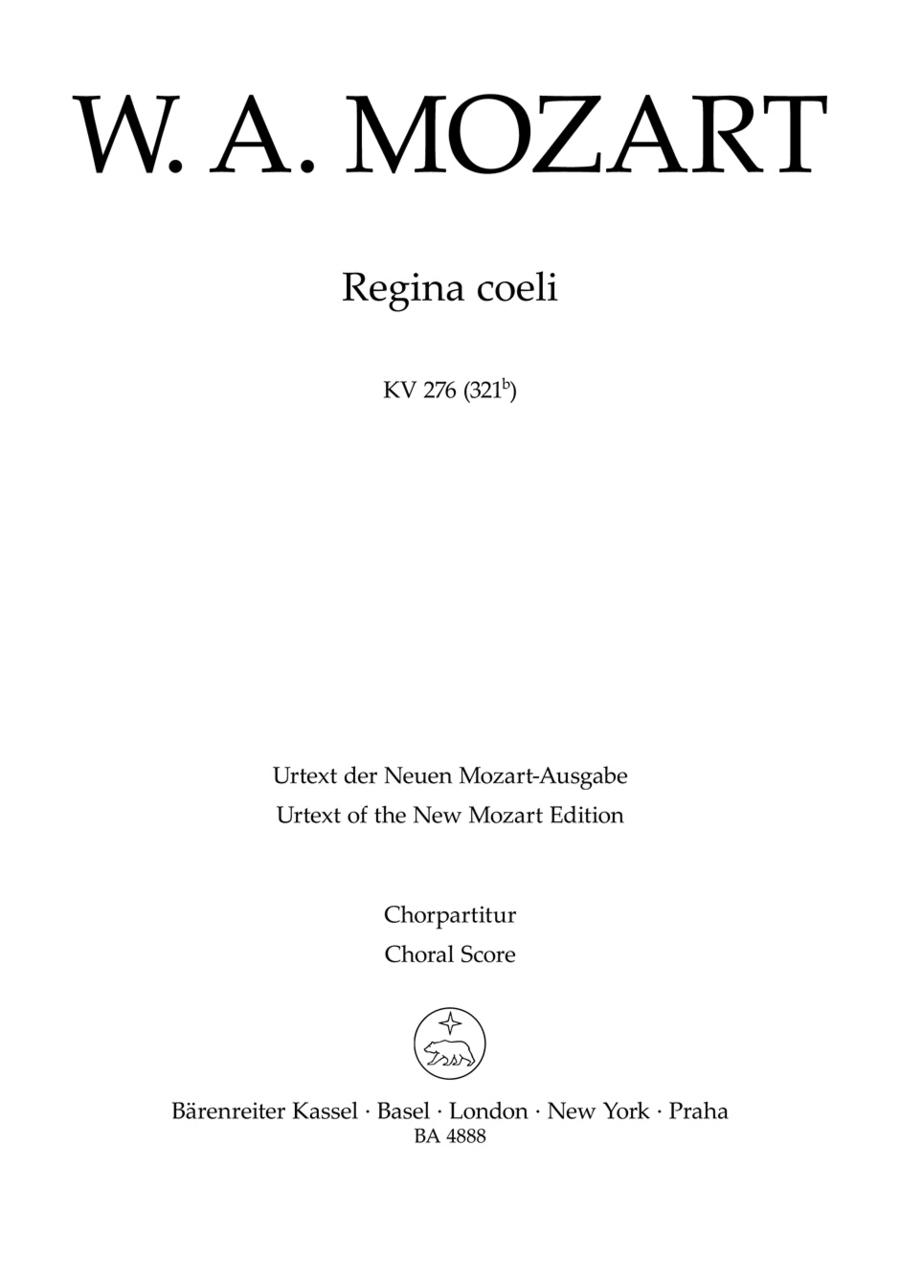 Regina coeli KV 276 (321b)