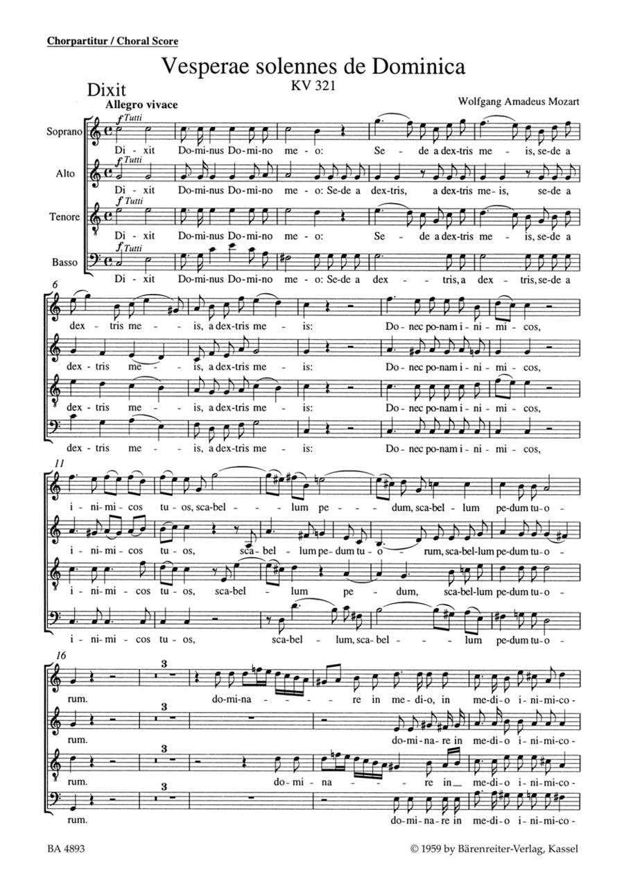 Vesperae solennes de Dominica KV 321