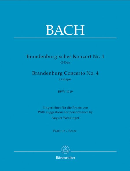 Brandenburg Concerto, No. 4 G major, BWV 1049