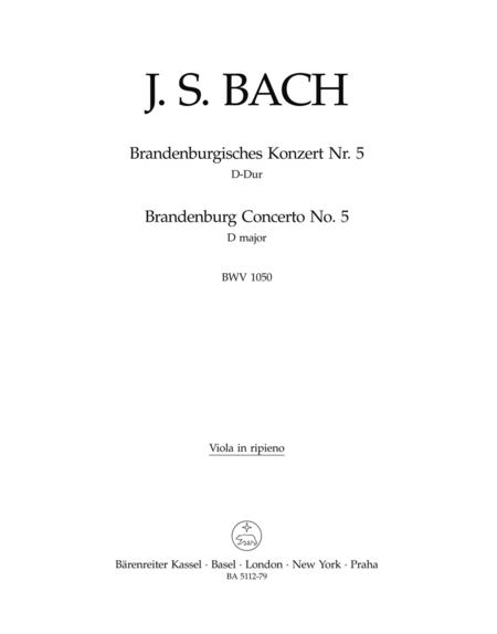 brandenburg concerto no. 5 musical analysis Find composition details, parts / movement information and albums that contain performances of brandenburg concerto no 5 in d on allmusic.