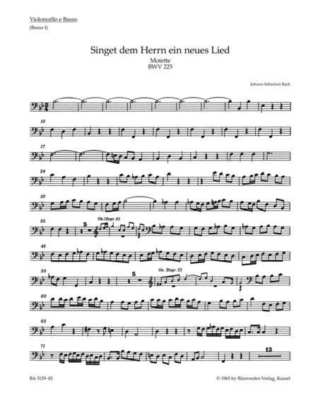 Singet dem Herrn ein neues Lied, BWV 225