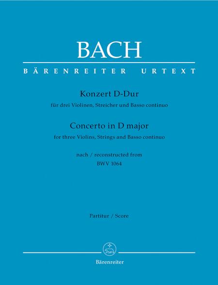 Concerto for three Violins, Strings and Basso continuo D major