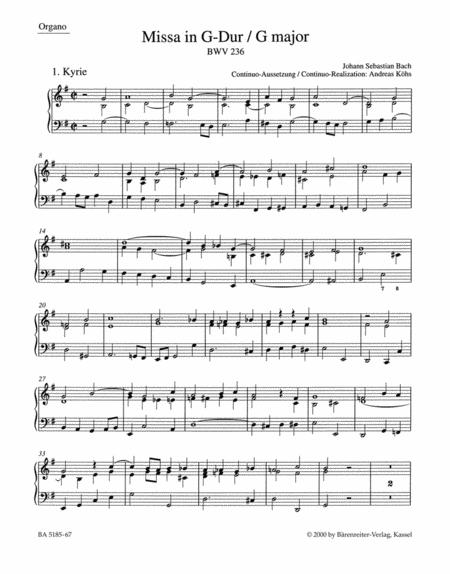 Mass in G major BWV 236 'Lutheran Mass 4'