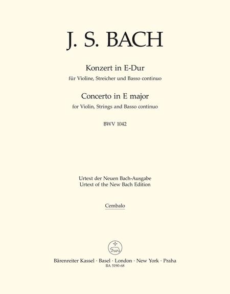 Concerto for Violin, Strings and Basso continuo E major BWV 1042