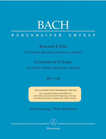 Violin Concerto In E Major, BWV 1042