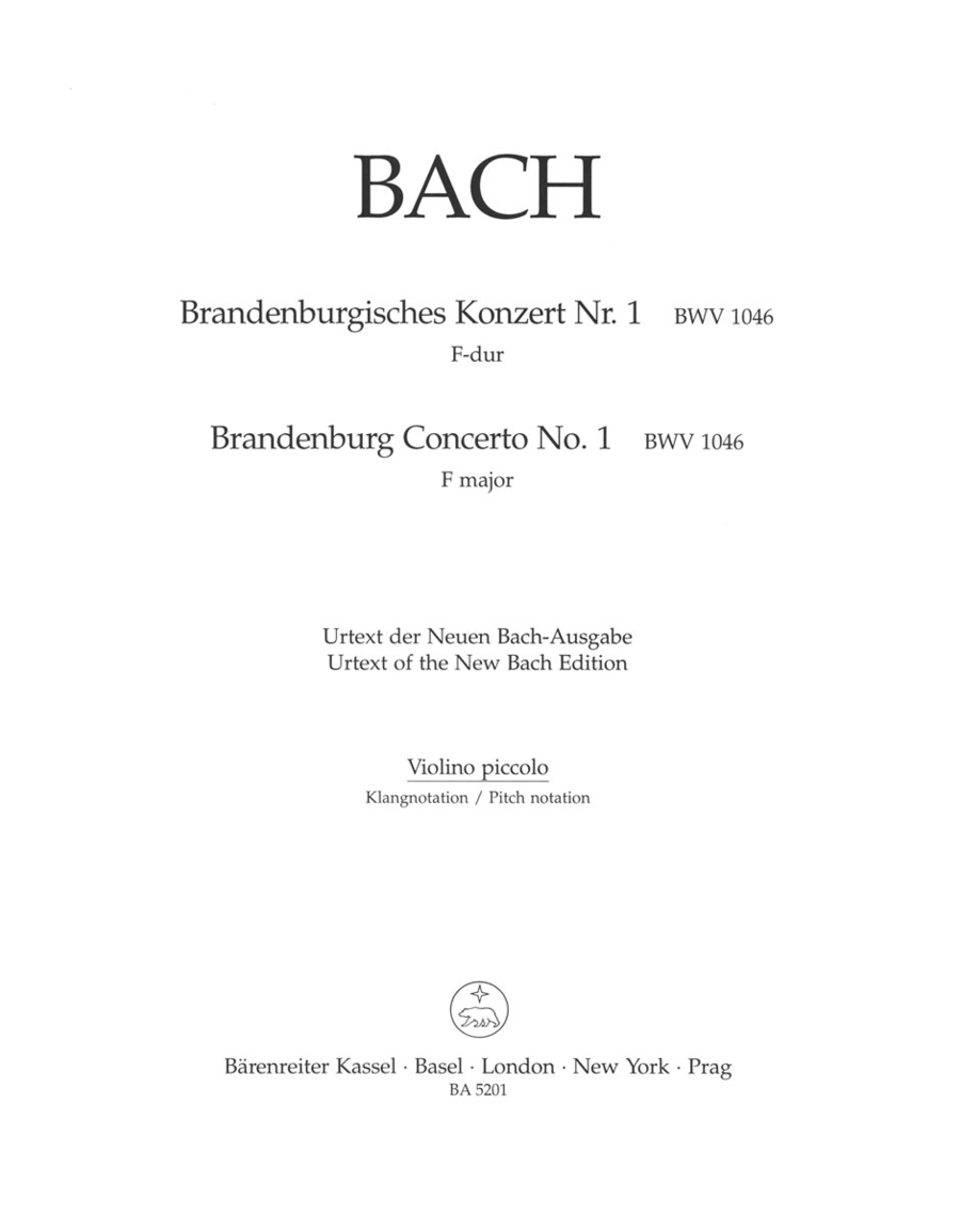 Brandenburg Concerto, No. 1 and Original Version