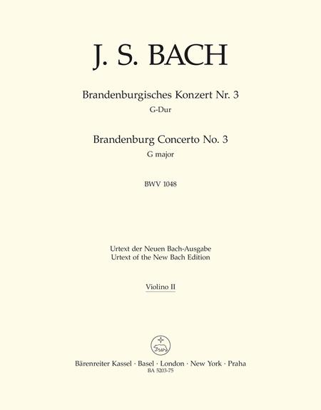 Brandenburg Concerto, No. 3 G major, BWV 1048