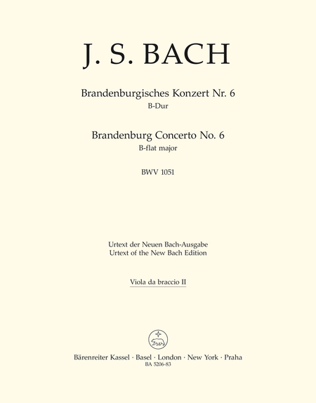 Brandenburg Concerto, No. 6 B flat major, BWV 1051
