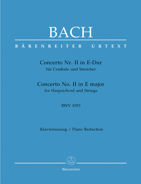 Concerto for Harpsichord and Strings No. 2 E major BWV 1053