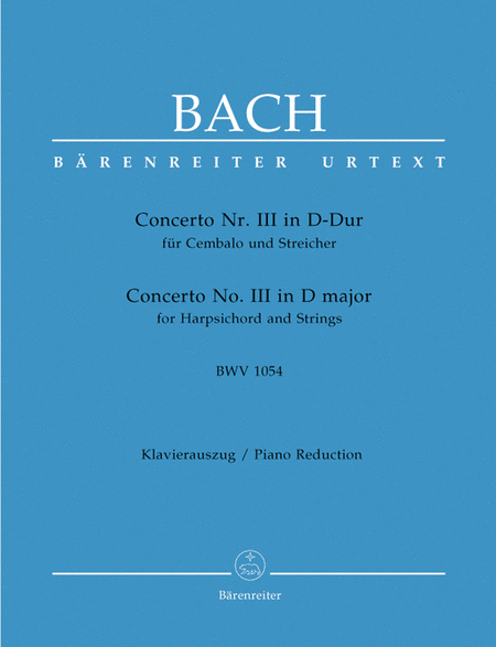 Concerto for Harpsichord and Strings No. 3 D major BWV 1054