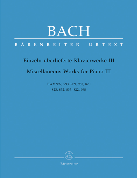 Miscellaneous Works For Piano, Volume III