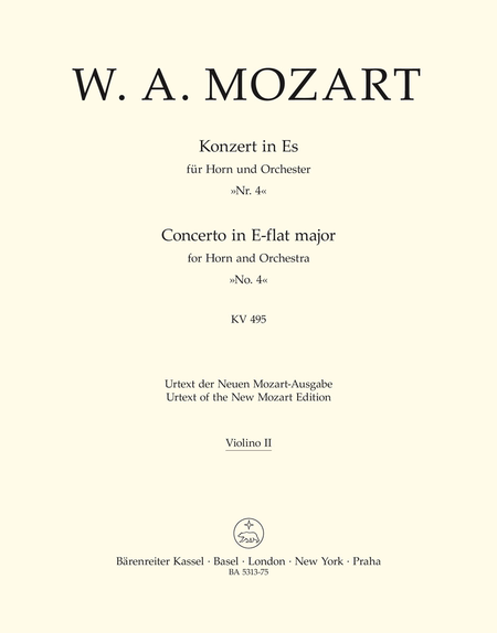 Concerto for Horn and Orchestra, No. 4 E flat major, KV 495