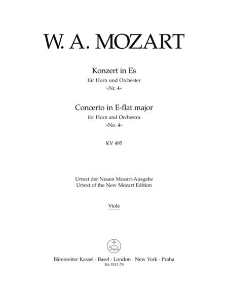 Concerto for Horn and Orchestra, No. 4 E flat major, KV 495