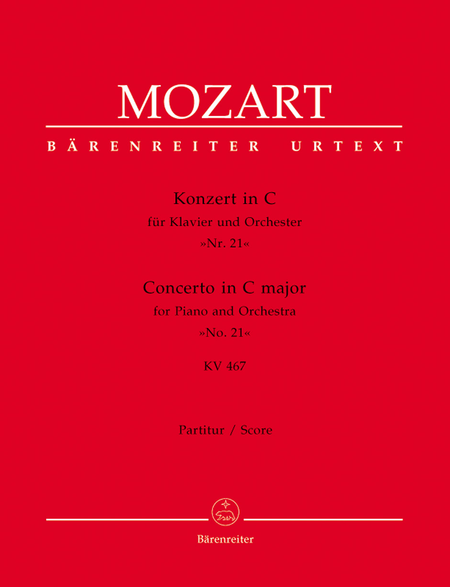 Concerto for Piano and Orchestra, No. 21 C major, KV 467