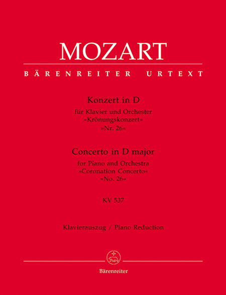 Concerto for Piano and Orchestra, No. 26 D major, KV 537 'Coronation Concerto'