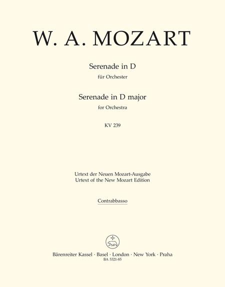 Serenade D major, KV 239