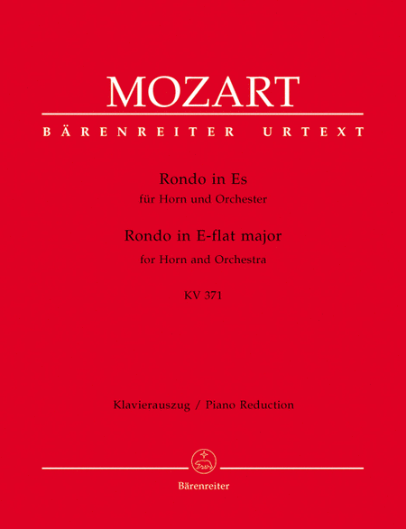 Rondo for Horn and Orchestra E flat major, KV 371