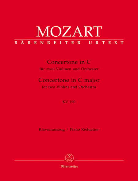 Concertone for two Violins and Orchestra C major, KV 190 (166b, KV6:186 E)