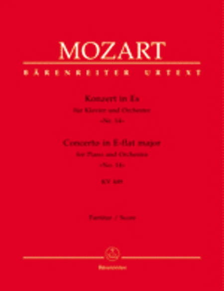 Concerto for Piano and Orchestra, No. 14 E flat major, KV 449