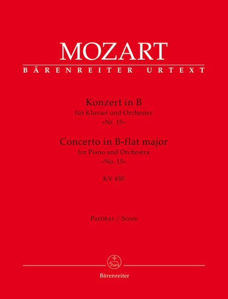 Concerto for Piano and Orchestra, No. 15 B flat major, KV 450