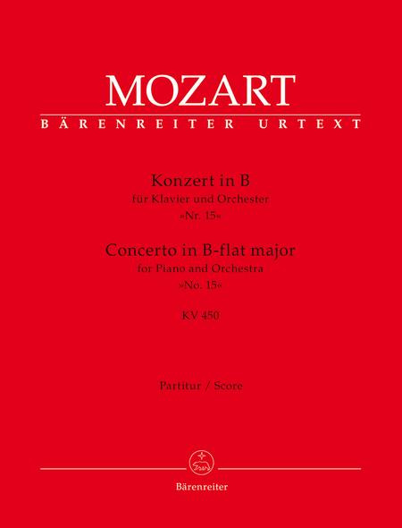 Concerto for Piano and Orchestra, No. 15 B flat major, KV 450
