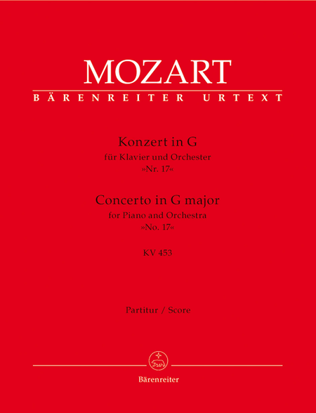 Concerto for Piano and Orchestra, No. 17 G major, KV 453