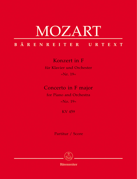 Concerto for Piano and Orchestra, No. 19 F major, KV 459