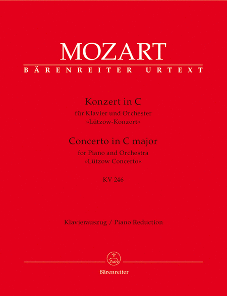 Concerto for Piano and Orchestra, No. 8 C major, KV 246 'Lutzow Concerto'