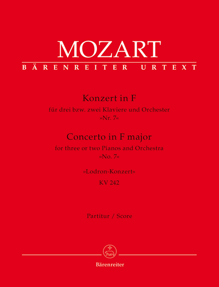 Concerto for three or two Pianos and Orchester No. 7 F major KV 242 'Lodron Concerto'