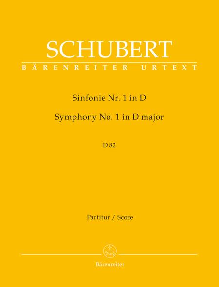 Symphony, No. 1 D major D 82