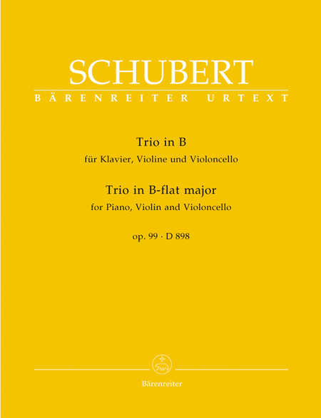Piano Trio In Bb Major, D 898