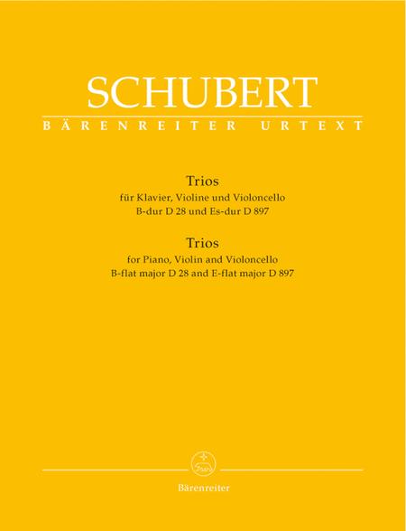 Trios for Piano, Violin and Violoncello B flat major/E flat major, Op. post 148 D28/D897