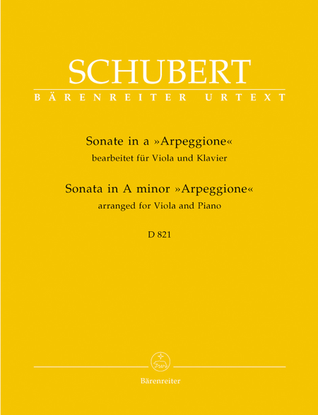 Sonata In A Minor For Viola And Piano, D 821