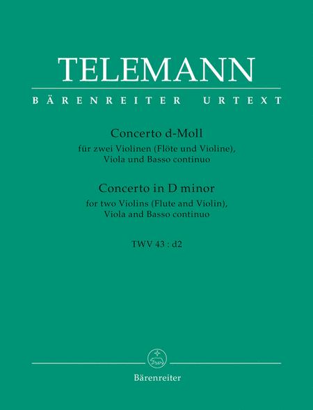 Concerto a quattro d minor TWV 43:d 2